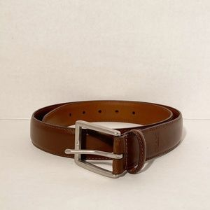 Chaps Men's Brown Genuine Leather Belt Size 32